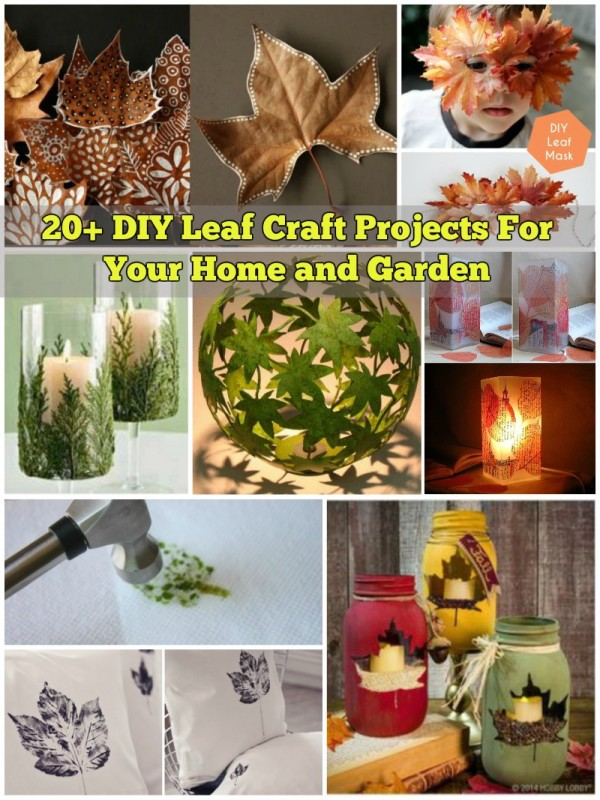 20 DIY Leaf Craft Projects For Your Home And Garden