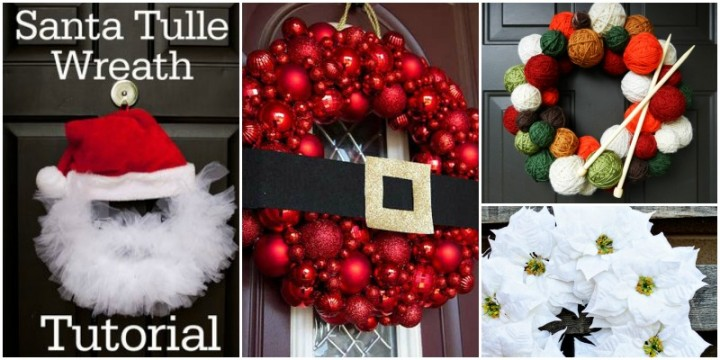 20 diy christmas wreath ideas and projects to adore your home for Diy christmas decorations for your home
