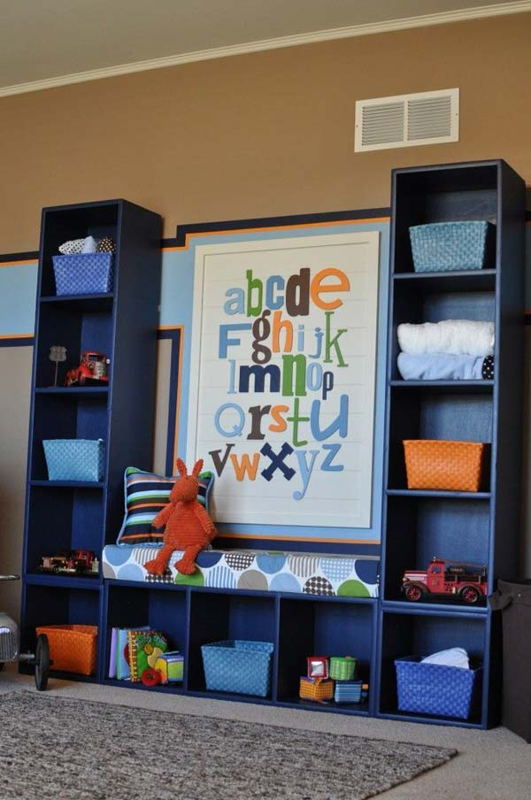 25 diy best ways to organize kids 39 room for Best way to decorate a small room