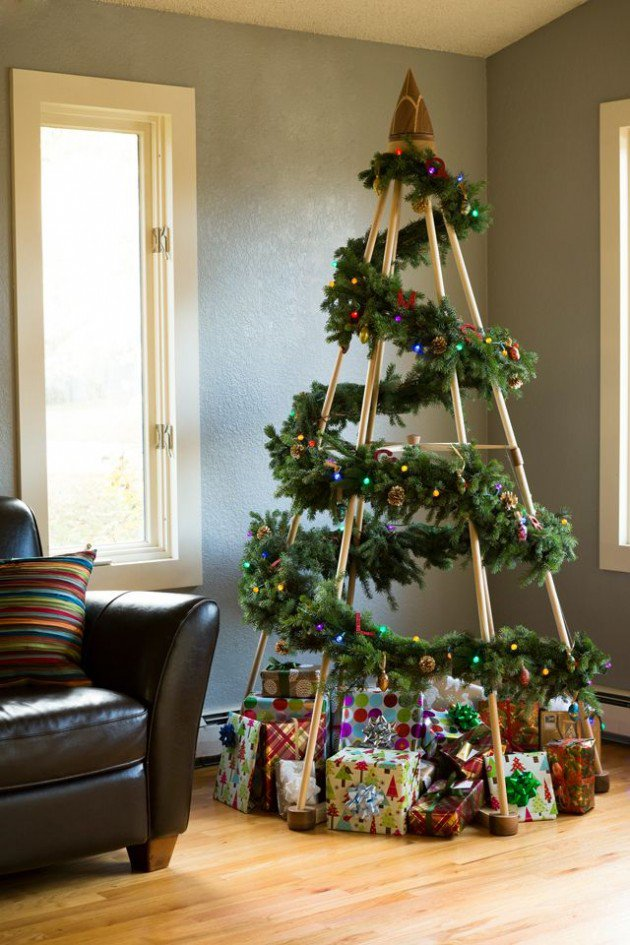 20 unique diy christmas tree ideas and projects anyone for Creative christmas decorations