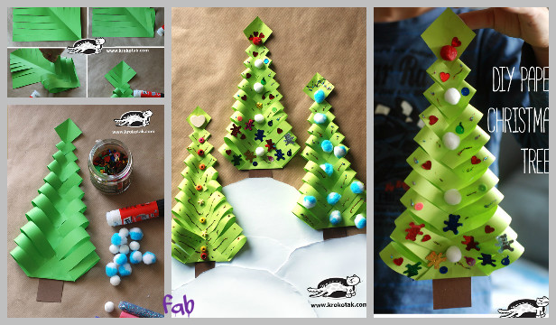 diy paper christmas tree gift topper tutorial video