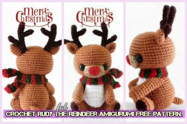 Amigurumi Reindeer Free Pattern : Crochet rudy the reindeer amigurumi free pattern