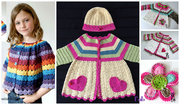 Crochet Girls Flower Cardigan Free Patterns For Spring Diy Magazine