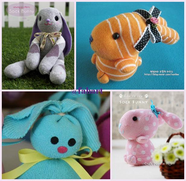 Toys Easter Magazine : Fabartdiy diy sock bunny easter toy tutorials magazine