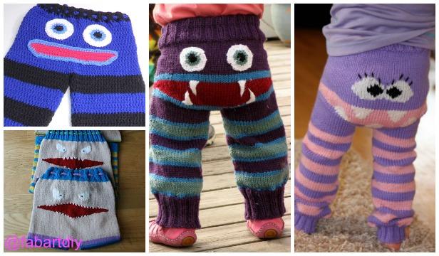 Knit Kids Monster Pants Free Patterns