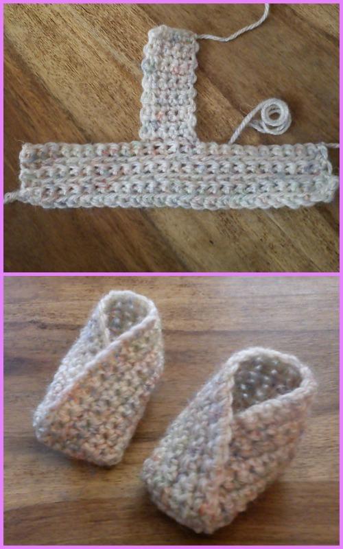 Crochet Baby Kimono Slipper Booties Pattern