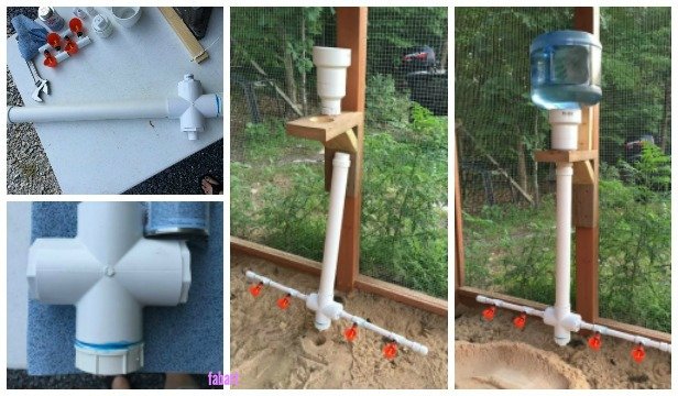Diy pvc chicken watering system tutorial