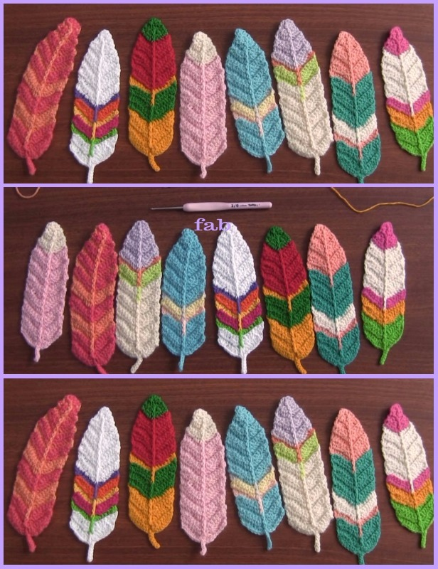Crochet Feathers Free Patterns Tutorials Video