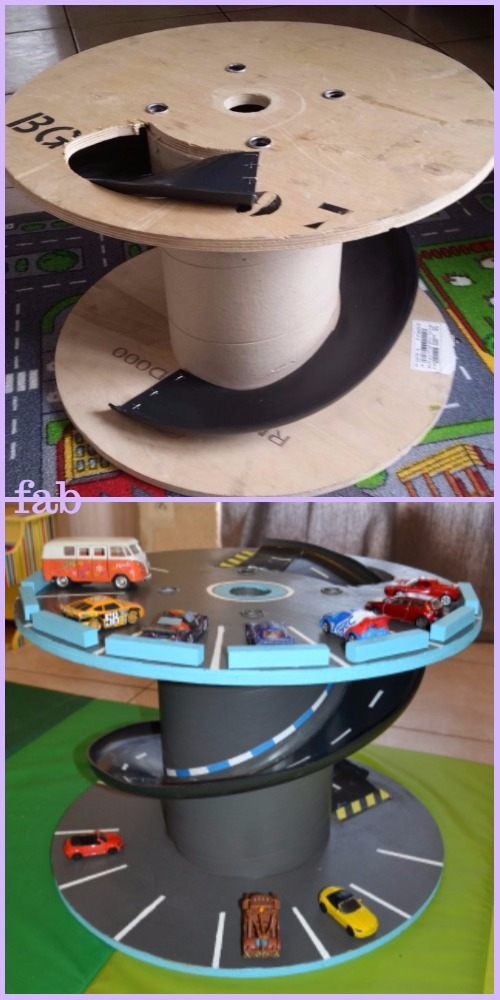Diy Wood Cable Reel Race Car Track Tutorial Diy Magazine