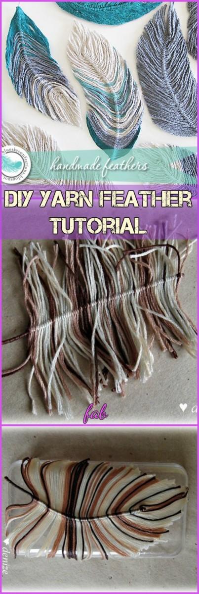 Diy Yarn Feather Tutorials Video