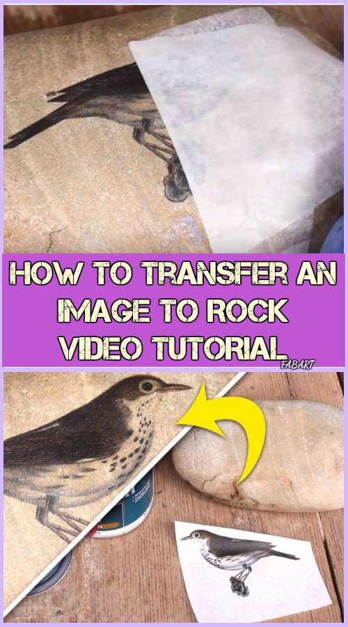 How to Transfer An Image To Rock Tutorial-Video