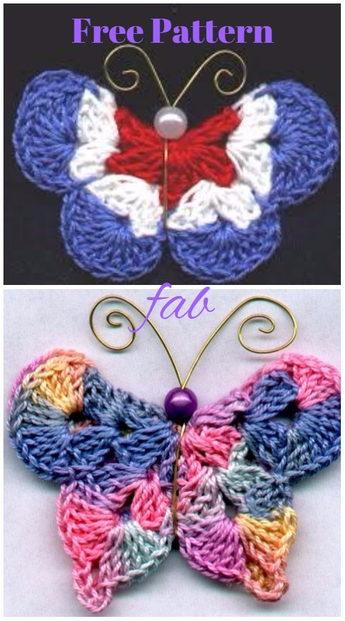 Crochet 3d Butterfly Free Patterns Amp Tutorials