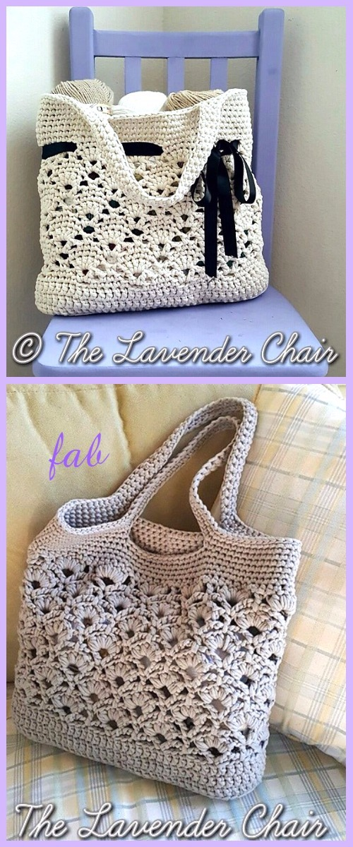 Crochet Tote Bag Free Patterns Tutorials