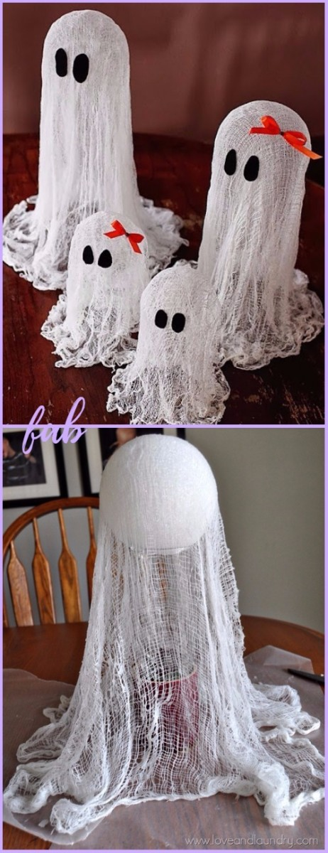 Diy halloween ghost decoration tutorials - Diy halloween ghost decorations ...