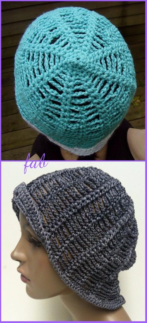 Crochet Spiderweb Hat Free Patterns For Halloween