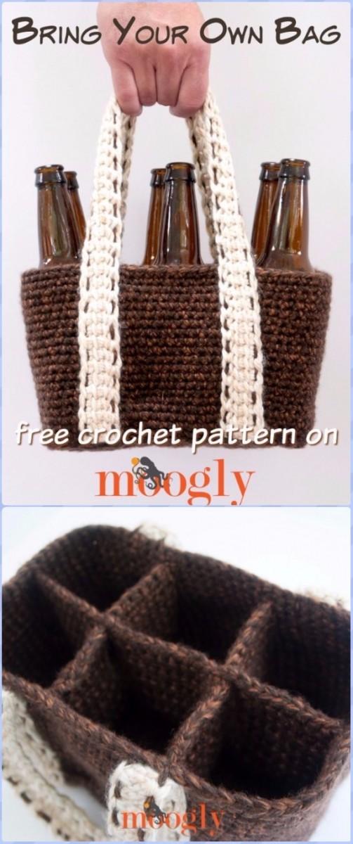 Diyhowto Crochet Wine Bottle Cozy Bag Free Patterns 01 Diy Magazine