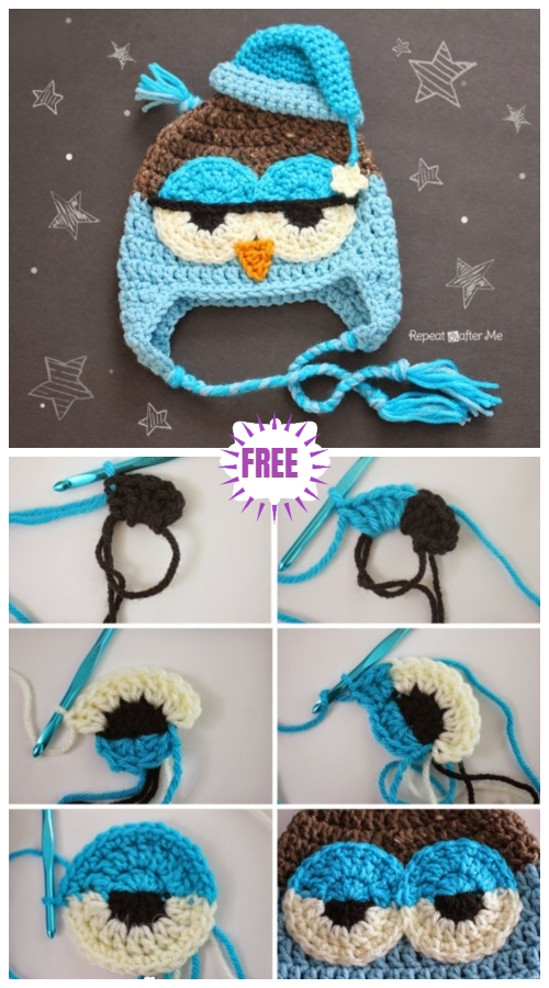 Crochet Owl Hat Free Patterns