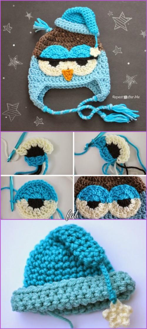 Crochet Owl Hat Free Patterns Crochet Drowsy Owl Hat Free Pattern