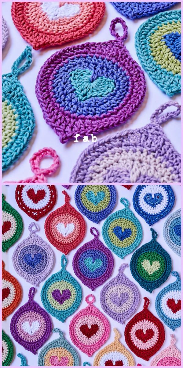 crochet lovebomb christmas ornament paid pattern - Free Crochet Christmas Ornament Patterns