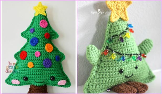 Amigurumi Crochet Cuddly Christmas Tree Free Patterns