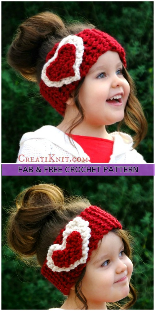 Knit Crochet Heart Ear Warmer Free Patterns Diy Magazine