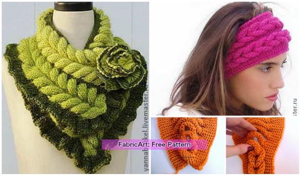 Knit Faux Braid Headband Free Pattern