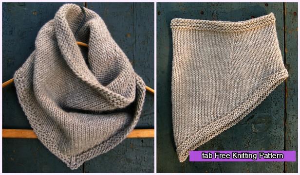 Knit Bandana Cowl Free Pattern
