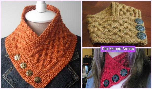 Knit Celtic Cable Neckwarmer Free Knitting Pattern Diy Magazine