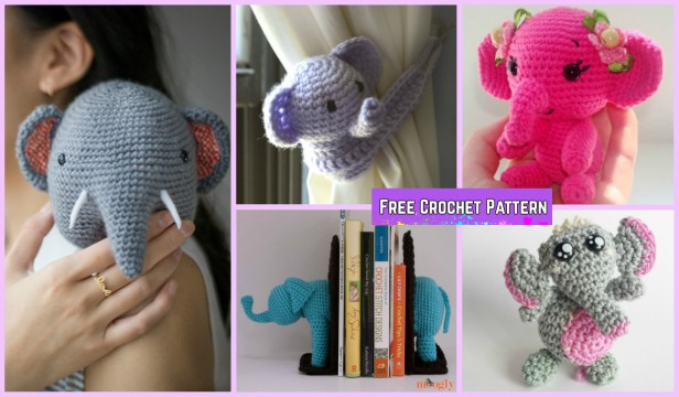 Amigurumi Elephant Pattern : Crochet elephant plush toy amigurumi free patterns