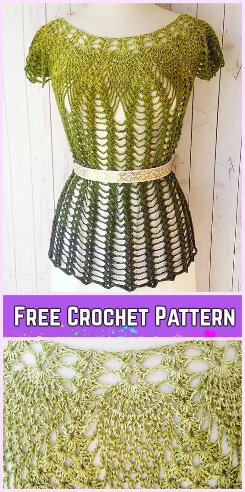 Luxury Dress Crochet Pattern Motif - Decke Stricken Muster ...
