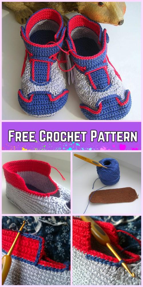Crochet Nike Baby Sneakers Free Pattern