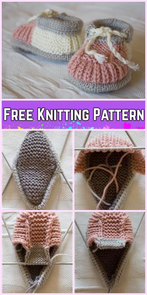 Knit Baby Sneaker Booties Free Knitting Pattern Diy Magazine