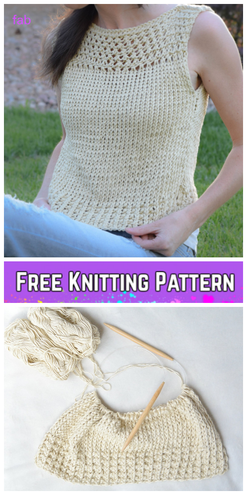 Knit Summer Vacation Top Free Knitting Patterns For Ladies