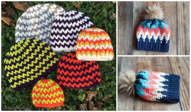 Crochet Chevron Hat Free Crochet Patterns