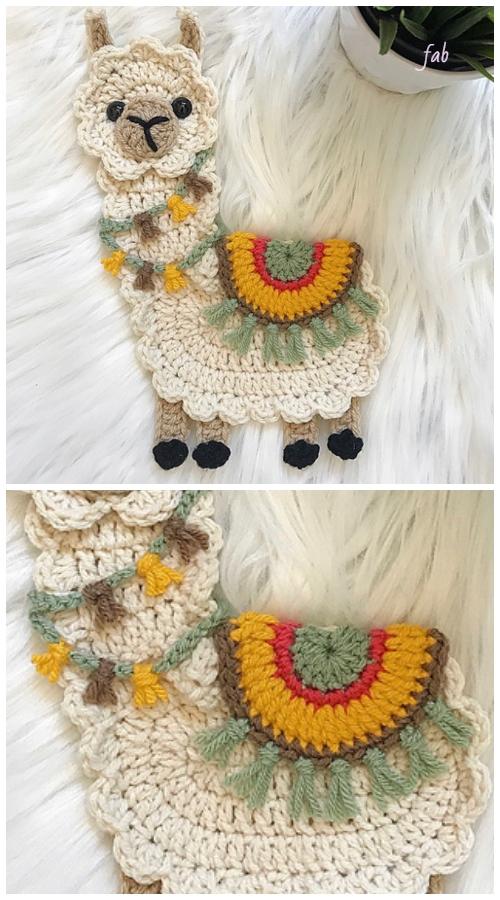 Llama Applique Crochet Patterns Free & Paid