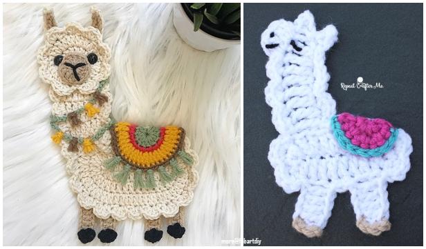 Llama Applique Crochet Patterns Free Paid