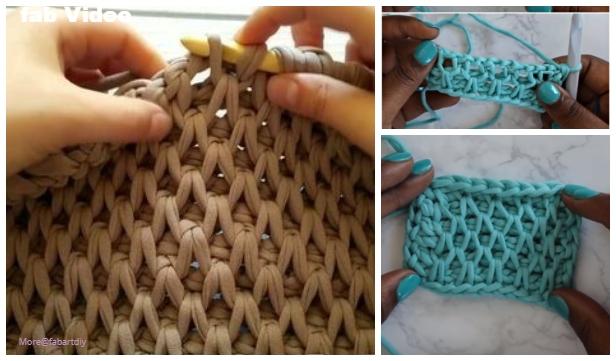Tunisian Crochet Smock Stitch Free Crochet Pattern Video