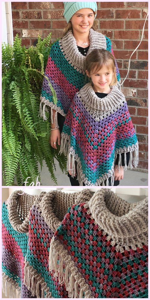 Cowl Neck Poncho Crochet Pattern For Ladies Diy Magazine