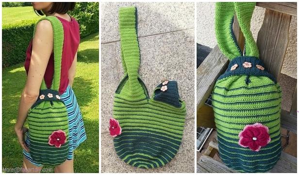 Crochet Japanese Knot Bag Free Crochet Patterns Diy Magazine