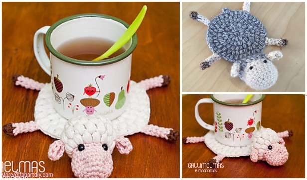 Crochet Sheep Coaster Free Crochet Patterns