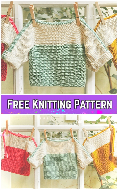 Free Easy Baby Sweater Knitting Patterns Labzada T Shirt