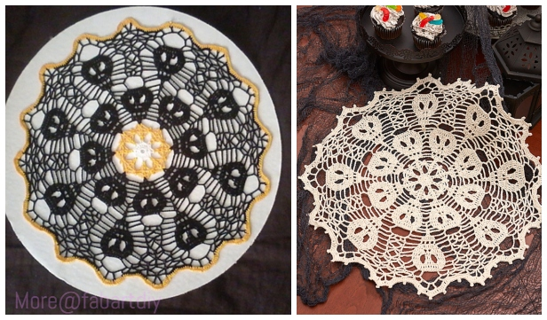 Crochet Skull Doily Free Crochet Patterns