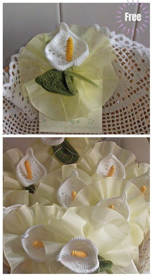 Crochet Calla Lily Flower Bouquet Free Crochet Pattern Diy Magazine