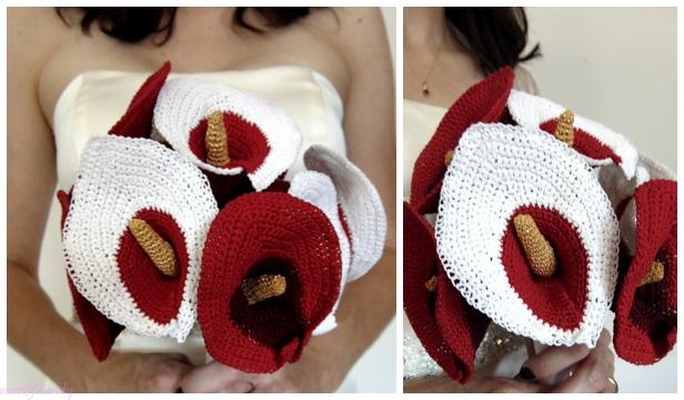 Crochet Calla Lily Flower Bouquet Free Crochet Patterns