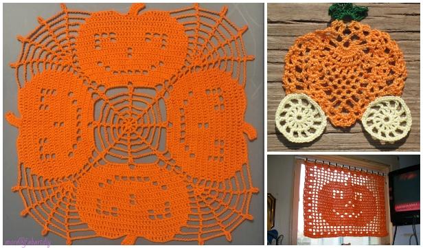 Halloween Crochet Pumpkin Doily Free Crochet Patterns