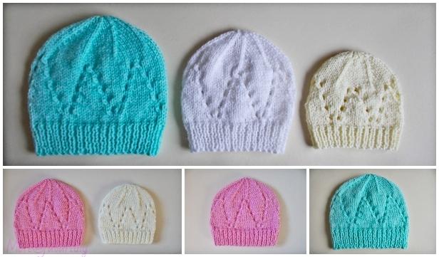 Knit Eyelet Baby Hat Free Knitting Patterns