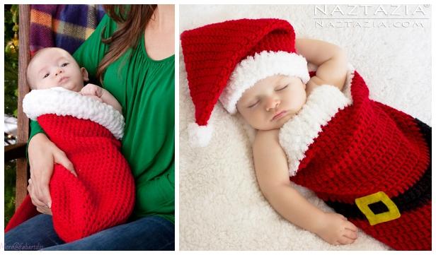 Christmas Crochet Santa Baby Cocoon Free Crochet Patterns