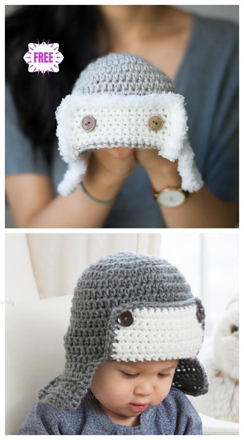 Crochet Baby Aviator Hat Free Crochet Patterns Video