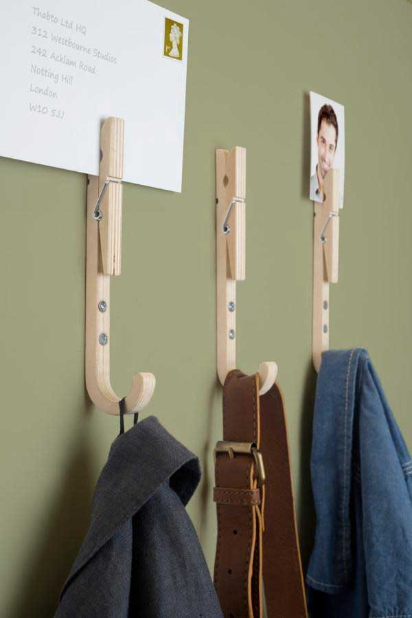 20 Creative Uses for Clothespins You Can Make For Your Home13