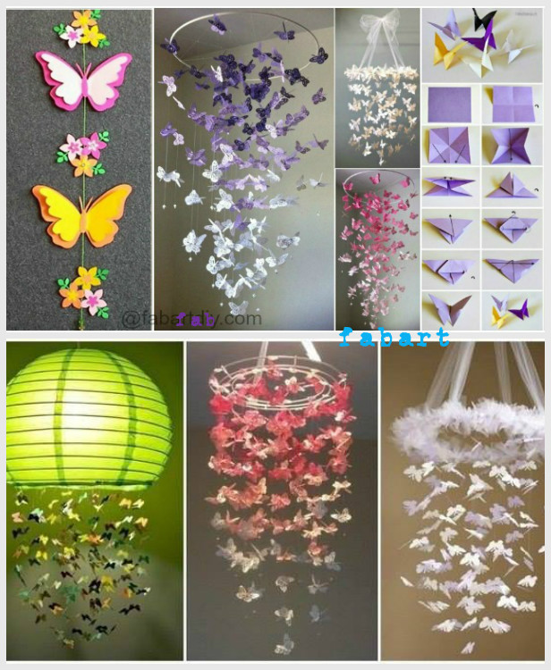 DIY Butterfly Chandelier Mobile Tutorials